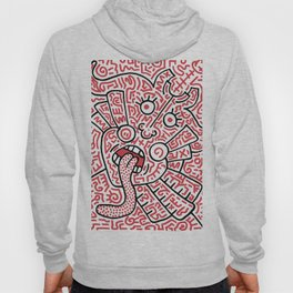 """""""The Face"""" - inspired by Keith Haring v. red Hoody"""