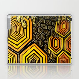 Hexagonal Reflections of an Empty Hive Laptop & iPad Skin