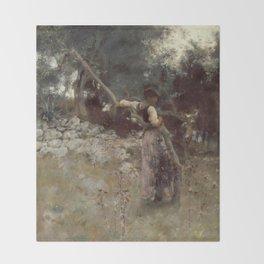 John Singer Sargent - A Capriote Throw Blanket