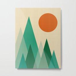 Minimalist Landscape X Metal Print