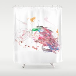 Pink Swirly 1 Shower Curtain