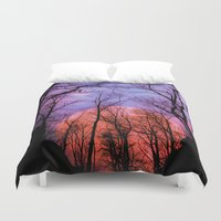 moonrise Duvet Covers featuring Moonrise Canyon by Pirmin Nohr