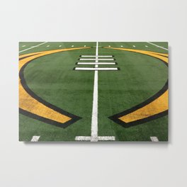 American Football Field - Illustration Graphic Metal Print