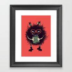 Evil Bug Student Loves To Read Framed Art Print