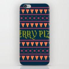 Merry Pizza iPhone & iPod Skin