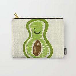 Smiling Avocado Food Carry-All Pouch