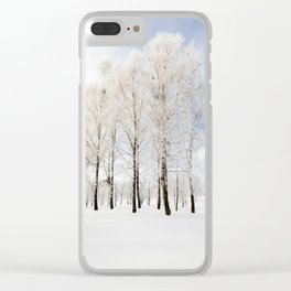 trees in winter Clear iPhone Case