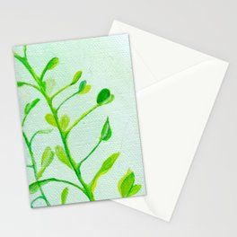 Green Vines Stationery Cards