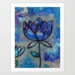 Abstract - Lotus flower - Intuitive Art Print