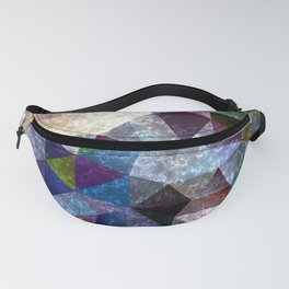 Marble polygonal pattern 2 Fanny Pack