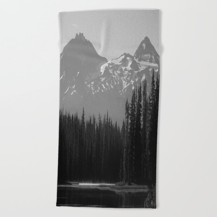 Lake Mist Beach Towel