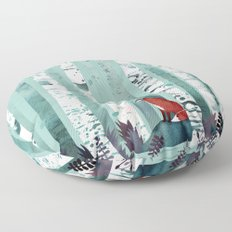 The Birches Floor Pillow
