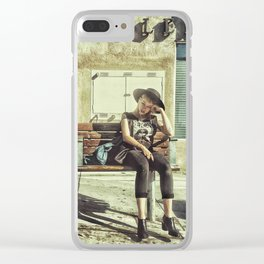Waiting game Clear iPhone Case