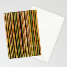 Bamboo fence, texture Stationery Cards