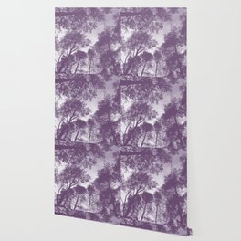 Forest view - lilac Wallpaper
