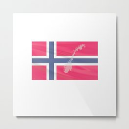 only to Norway Fjord Team Fishingtour Friends Vacation Metal Print