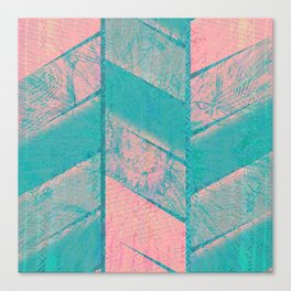 370 12 Pink and Blue Canvas Print