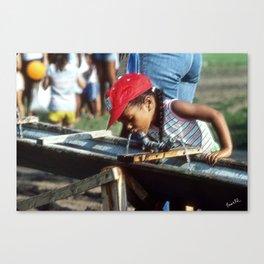 Street Scenes - Kid Thirsty Canvas Print