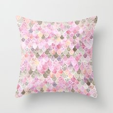 HAPPY MERMAID Throw Pillow