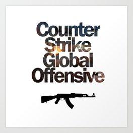 Counter Strike - Global Offensive  Art Print