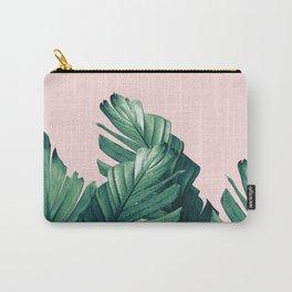 Blush Banana Leaves Dream #3 #tropical #decor #art #society6 Carry-All Pouch