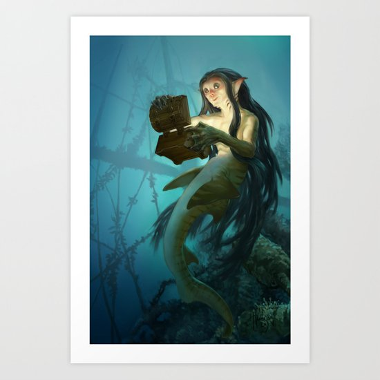 Sunken Sunlight Art Print