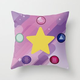 The Crystal Gems Throw Pillow