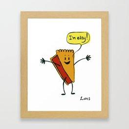 Easy as Pie! Framed Art Print