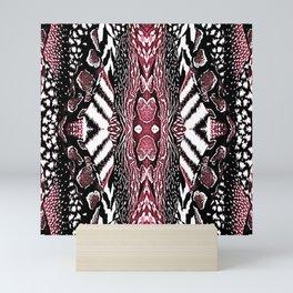 Abstract Wildlife Animal Pattern Study Ruby Red Mini Art Print