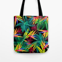 palm trees Tote Bags featuring Palm Trees by mark ashkenazi