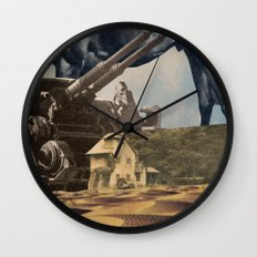 House In Desert Wall Clock