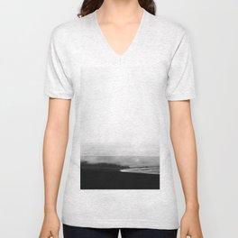 ICELAND / oceano nero Unisex V-Neck