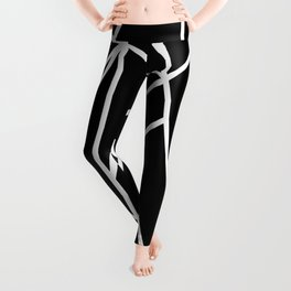 Classic Black White Geo #1 #geometric #decor #art #society6 Leggings