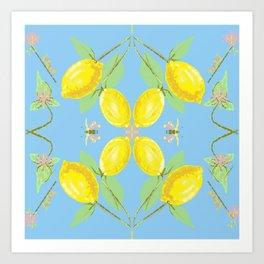 Butterfly lemon  Art Print