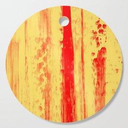 Gerhard Richter Inspired Abstract Urban Rain 3 Cutting Board