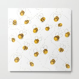 Busy buzzy bees Metal Print