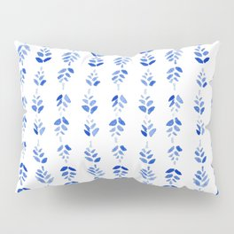 Indigo Blossom - nature watercolour pattern Pillow Sham