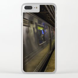 Late night train rides. Clear iPhone Case