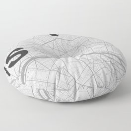 Paris - Minimal map Floor Pillow