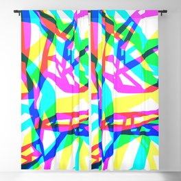 Splinter ~ mood abstract colorful pattern Blackout Curtain