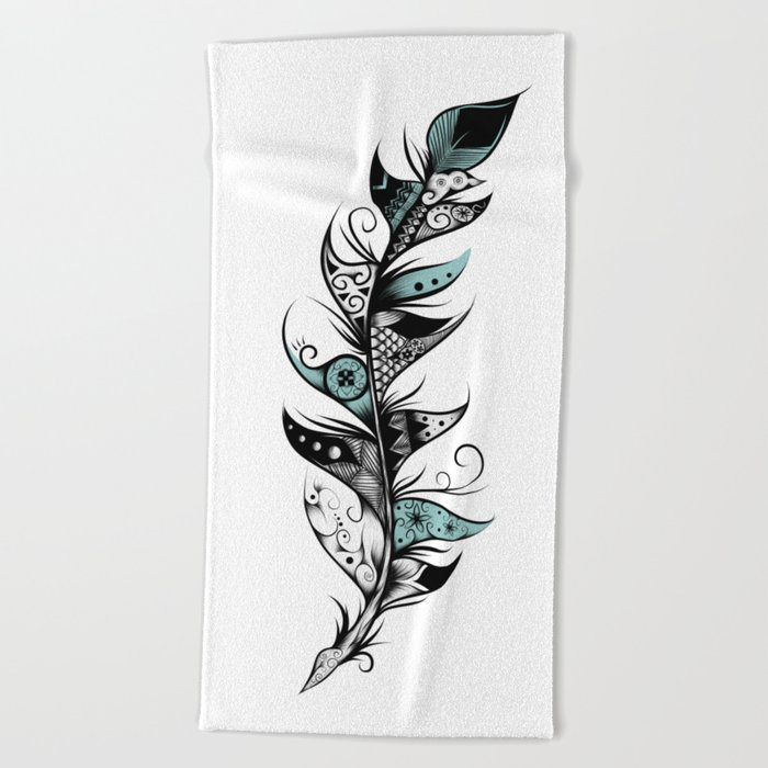 Poetic Feather Beach Towel