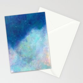 Distant Mountain- - 遠望 series - oil-paint Stationery Cards