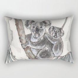 Koala Mommy and Baby Rectangular Pillow