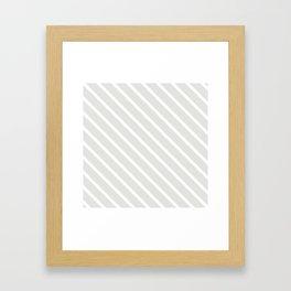 Ice Diagonal Stripes Framed Art Print