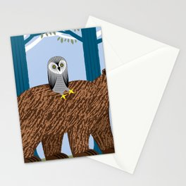 The Owl and The Bear Stationery Cards