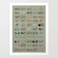 brompton Art Prints featuring Bicycle by Wyatt Design
