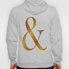 "Golden ""&"" letter - White Hoody"