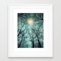 mint Framed Art Prints featuring Nature Blazes Before Your Eyes (Mint Embers) by soaring anchor designs