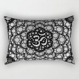 OM Symbol - Dot Art - Grayscale Rectangular Pillow