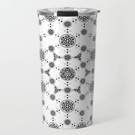 ancient sacred geomertry. seamless pattern. flower of life Travel Mug